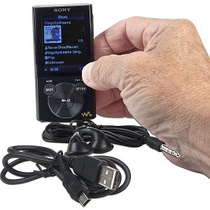 Sony NWZ-E344 8GB E Series Walkman Video MP3 Player (Black)