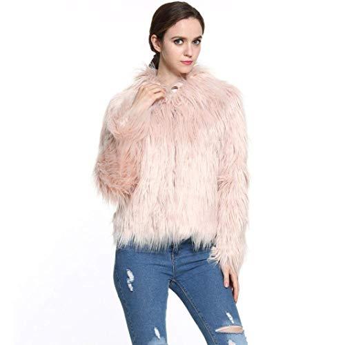 Invernali Classiche Khaki Morbidi Alta Maniche Donne Pelliccia Finta Outerwear Donan Elegante Giacca Fashion Cappotto Lanuginoso Vita Di Autunno Lunghe Comodo Squisito ROqOX