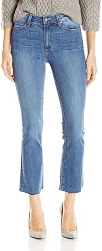 PAIGE Women's Colette Crop Flare Jeans W/ Raw Hem-Cosmo