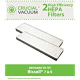 2 Bissell Style 7, 9 HEPA Filter; Compare to Bissell Part No. 32076; Designed and Engineered by Think Crucial