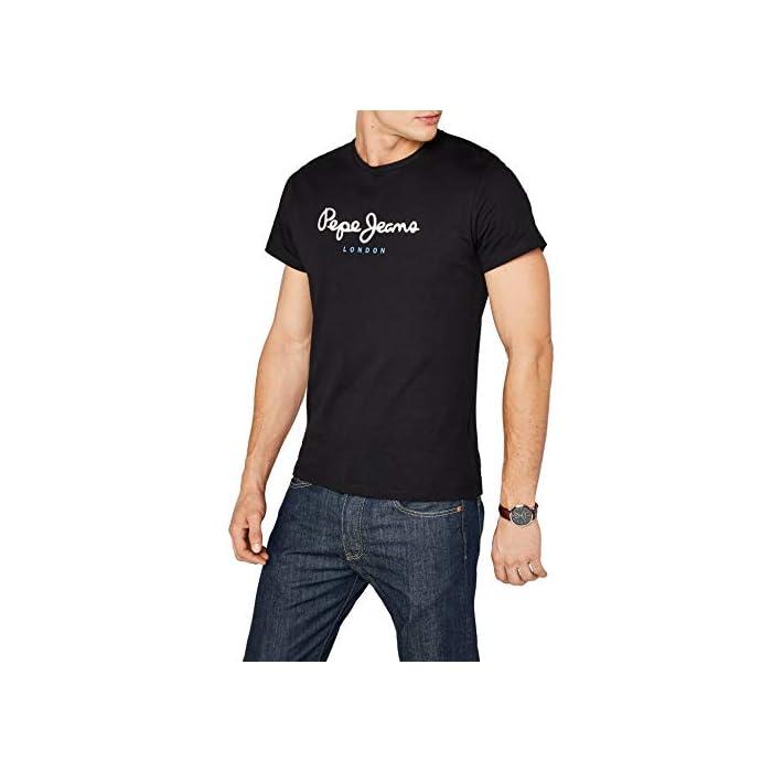 417QdDz0pqL Camiseta básica para hombre Logo estampado en el pecho 100% Algodón