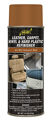 SM Arnold (65-902) Leather, Carpet, Vinyl & Hard Plastic Refinisher, Autumn Red - 11 oz.