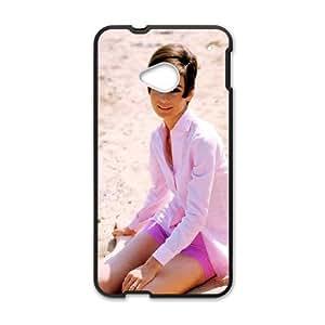 HTC One M7 Cell Phone Case Black Audrey Hepburn 004 Delicate gift JIS_263658