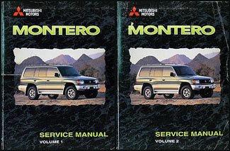 (1998 Mitsubishi Montero Repair Shop Manual Set)