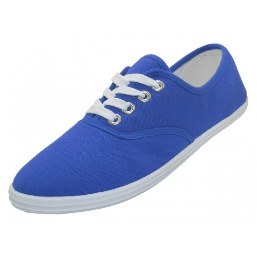 Shoes 18 Womens Canvas Shoes Lace up Sneakers 18 Colors Available (8 B(M) US, Royal 324)