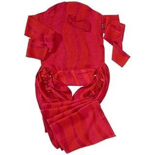 DIDYMOS Meh-Dai/Mei Tai (DidyTai) Baby Carrier Waves Garnet (Organic Cotton), One Size