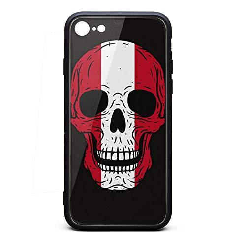 Shock-Absorption Good iPhone7/8 case Cool iPhone 8 Covers Skull Peru Flag Anti-Scratch iPhone 7 Accessories