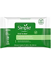 Simple Facial Wipes, Kind to Skin Exfoliating 25 ct