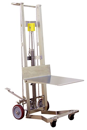 (Wesco Industrial Products SSDPL-54-2222 Hydraulic Platform Lift, Stainless Steel, 750 pounds Capacity)