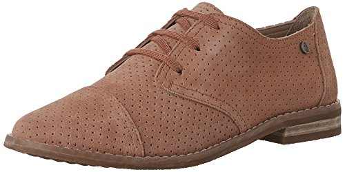 Hush Puppies Womens Aiden Clever Oxford Coral Suede Perf