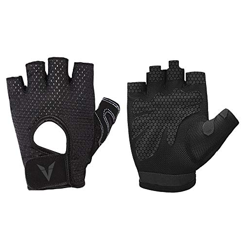 Veadoorn Gym Gloves Unisex Breathable Non-Slip Silica Gel Grip Exercise Gloves Sports Cycling Fitness Weight-Lifting Bodybuilding