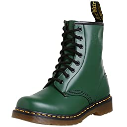 Dr. Martens Mens R11822207 1460 Industrial And Construction Shoe, Green Smooth - 9.5