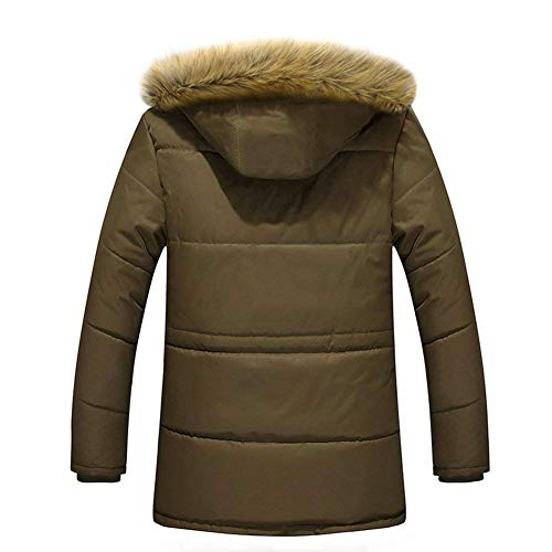 Coat Jacket Jacket Armee Outwear Jackets Men's Apparel Parka Coat Hoodie Warm Sports grün Thicken Casual Sleeve Casual Jacket Long Quilted 8wSqAwIT