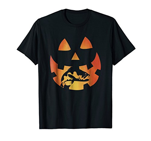 Jack O lantern halloween pumpkin bass fish fun fishing Shirt for $<!--$18.95-->