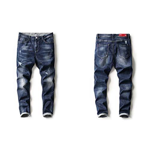 I Casual Ufige Pantaloni Moda Skinny Nero Uomini Elastica Di In Comodi Uomo Da Jeans Traspirante Denim Nne Giovani Dei Moderni P6wUPrq