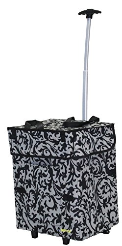 Bigger Smart Cart, Baroque Multipurpose Rolling Collapsible Utility Cart Basket