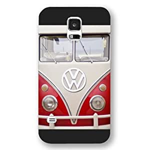 UniqueBox Customized Black Frosted Samsung Galaxy S5 Case, VW Minibus Samsung S5 case, Only fit Samsung Galaxy S5