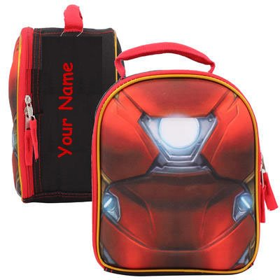 Personalized Marvel Comics Iron Man Chest Shaped School Lunchbox Lunch Bag - 10 (Ironman Lunch Box)