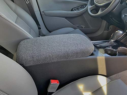 Auto Console Covers- Compatible with The Chevy Impala 2014-2019 Center Console Armrest Cover Fleece - Dark ()