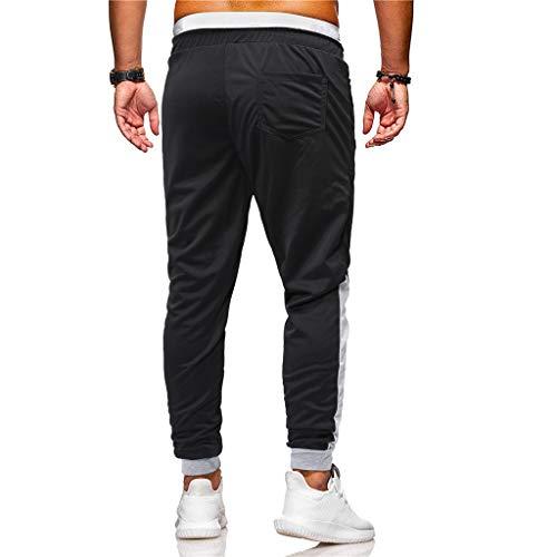 Cargo Élastique Noir De Cordon Pants 4xl M Grande Serrage Bas Taille Pantalon Chino Survêtement Solike XF0qxq