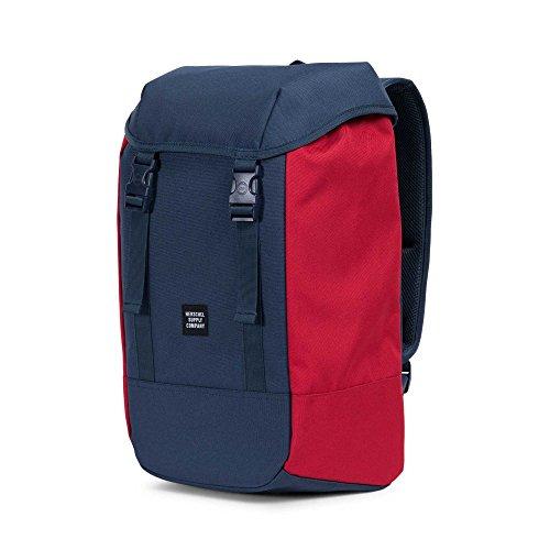 Herschel  Iona Backpack,  Unisex-Erwachsene Daypack, schwarz (Schwarz) - 10331-00001-OS marineblau / rot