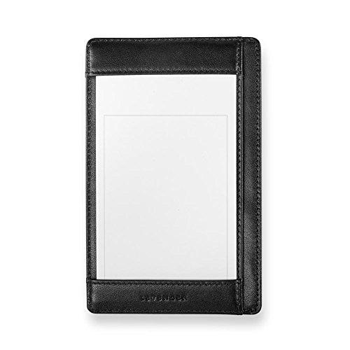 Pocket Shirt Briefcase (Levenger Bond Street Shirt Pocket Briefcase Durable Leather - Notepad, Black (AL15095 BK))
