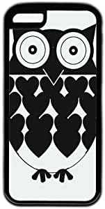 Black And White Cute Owl Theme Iphone 5C Case by runtopwell