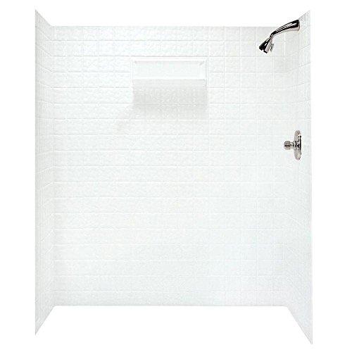 (Swanstone TI07260.010 Veritek Glue-up 5 Panel Bathtub Wall Kit, 60-in L X 36-in H X 72-in H, White)