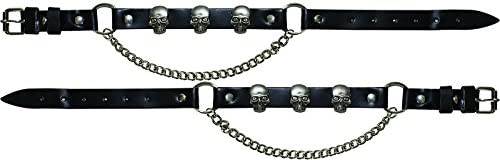 Billys Biker Gear Motorcycle Boot Chains with Skulls