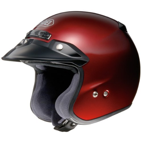 SHOEI RJ-Platinum R Wine Red Open-Face Helmet - XS 02-637