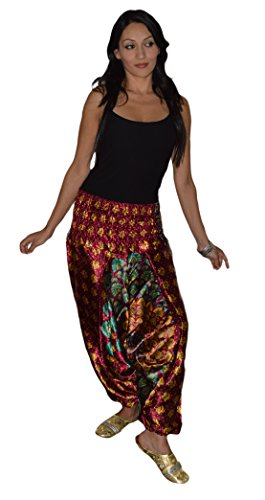 Hippie Moroccan Harem Gypsy Jumpsuit Yoga Belly Alibaba Pants Trousers Small to Large by Moroccan Harem Pants