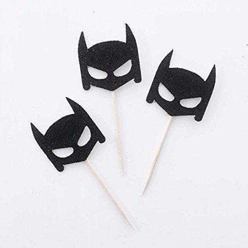 Batman Cupcake Toppers, Batman Party Decorations, Birthday Boy, The Justice League, Superhero Party Decor, Superhero Birthday (Set of 12)