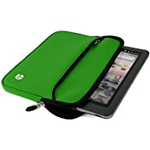 """VanGoddy Soft Neoprene Tablets Sleeve / Zipper Carrying Case Pouch for Samsung Galaxy Tab A Plus 8.0 S Pen / Samsung Galaxy Tab E 8.0"""" 7.0 / Galaxy Tab S2 Nook 8.0 (Green)"""