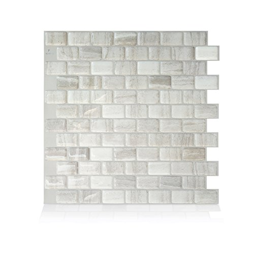 Smart Tiles Authentic Peel and Stick Backsplash And Wall Tiles (4 Sheets) -