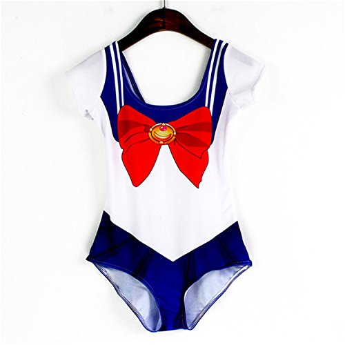 One piece Bathing Halloween Fancy Dress Costume Sailor moon women Bikinis set Sexy cosplay swim wear Lady swimming suit LNSst LNSst1208 L