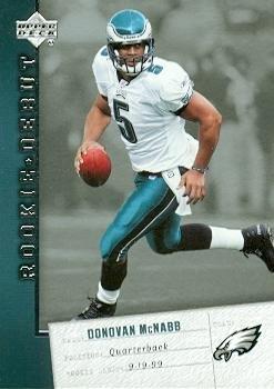 Donovan McNabb Football Card (Philadelphia Eagles) 2006 Upper Deck Rookie Debut #73