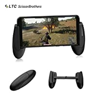 """LTC """"ScissorBrothers"""" Holder H1 for Mobile Game, Foldable, Anti-Slip, Use for PUBG/Rules of Survival, Compatible with 4.5"""" to 6.4"""" Smartphone- Black"""