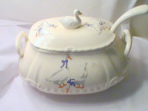 - Vintage Blue Ribbon Duck SoupTureen with Ladle