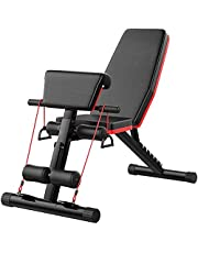 BotaBay Adjustable Weight Bench Strength Training Bench for Full Body Workout Home Gym Incline Extension Decline Exercise Foldable Fitness Bench