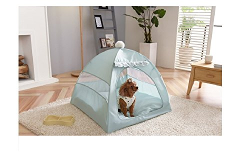 417Ql7if8aL - Gumdung Dog Cat Pet Onetouch Tent House Heating Effect UP Cotton+Poly Three-Second Easy One-Touch Large Single Without Cushion Mint