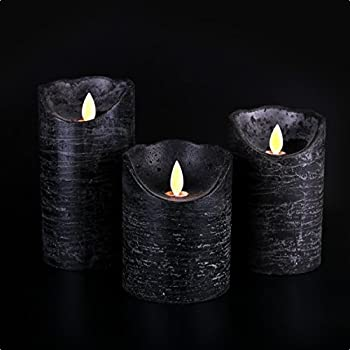 Amazon.com: Kitch Aroma Marble Black flameless candles 3 x ...