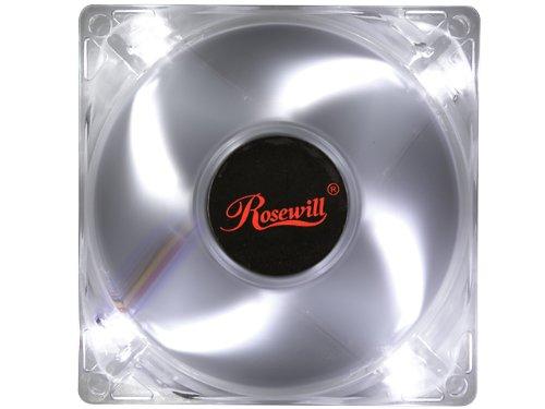 80mm fan white led - 3