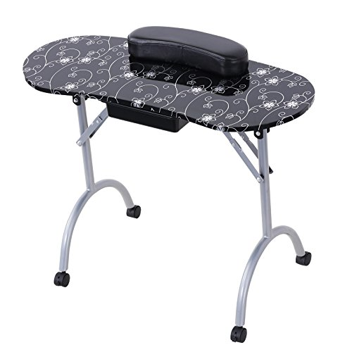Cheap Murtisol Portable Nail Table Foldable Manicure Table Reinforced Spa Station Beauty Salon Desk With Carrybag