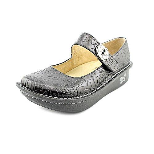 (Alegria Paloma Womens Mary Jane Shoe Black Leather 6 M US)