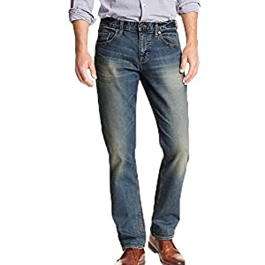 Banana Republic Men's Athletic Fit Stretch Distressed Jean