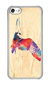 Zheng caseApple Iphone 5C Case,WENJORS Cute Its a hoot Hard Case Protective Shell Cell Phone Cover For Apple Iphone 5C - PC Transparent