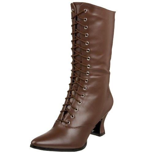 Funtasma Womens Victorian-120 Boot Brown Pu