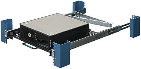 RackSolutions 1U Adjustable Vented 19 Inch Sliding Server Rack Mount Shelf 20 Inch Deep Without Cable Management Arm