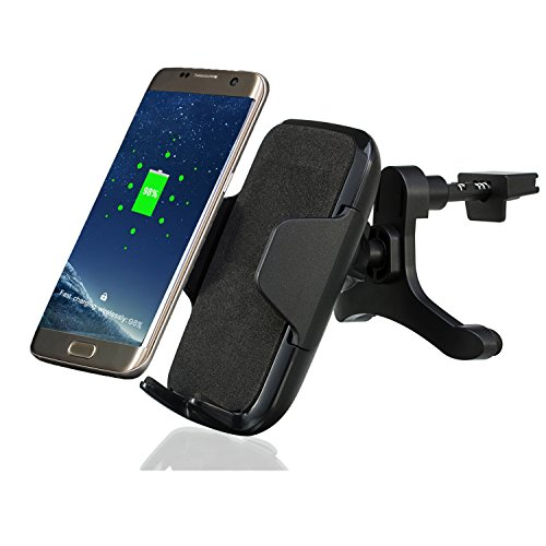 Wireless Car Mount Charger, Antye Qi Standard Wireless Charging Car Mount Air Vent Holder Cradle for iPhone X 8 8 Plus, Samsung Galaxy S8 Note 8 S6 S7 Edge Plus Note 5, Nexus 4/5, Qi-Enabled Devices by ANTYE