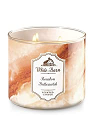White Barn Candle 3 Wick 14.5 Ounce Scented Bourbon Butterscotch